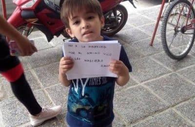 Tiene 6 años y realizó una emotiva campaña contra la pirotecnia