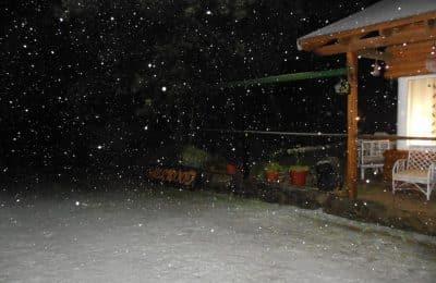 Llegó la nieve a Villa Ventana