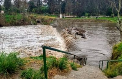 Importante crecida de ríos y arroyos en la Comarca Serrana