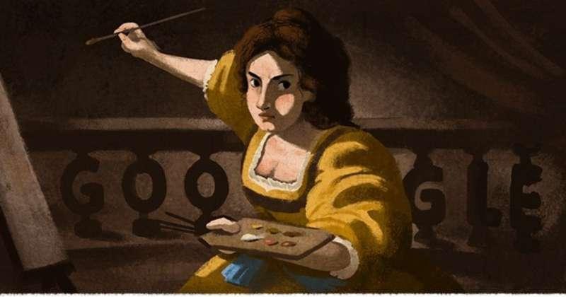 Quién fue Artemisia Gentileschi, la artista barroca que Google homenajea con un doodle en su 427° aniversario, este 8 de julio