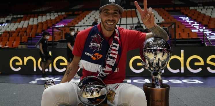 Baskonia, con Luca Vildoza, campeón de la ACB