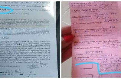 Les llegó una multa de 12 mil pesos por no usar tapabocas