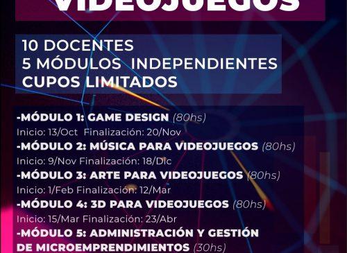 Desarrollo de Videojuegos - Capacitaciones gratuitas virtuales