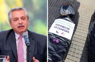 """Alberto Fernández se enojó por las bolsas mortuorias en Plaza de Mayo: """"Acto de barbarie"""""""