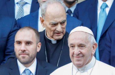 El Papa Francisco recibirá este miércoles a el ministro Martín Guzmán