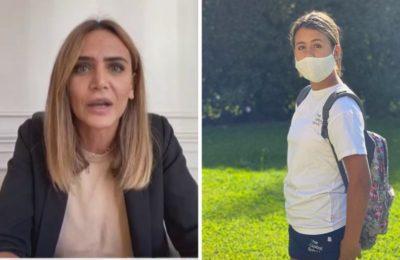 """Uma, la hija de Amalia Granata lloró desconsoladamente por la suspensión de clases: """"¡Por qué siempre a mí!"""""""