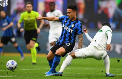 Un gol del bahiense Lautaro Martínez en el triunfo del Inter que sigue puntero