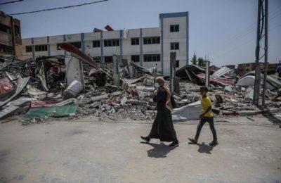 Las imágenes más impactantes de los bombardeos israelíes sobre la Franja de Gaza que dejaron más de 20 muertos
