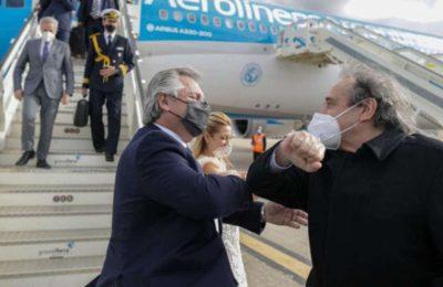 Alberto Fernández llegó a Madrid para continuar su gira europea en busca de apoyos en la renegociación de la deuda con el FMI