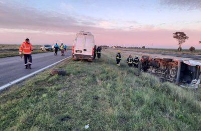 Cuatro personas heridas en un accidente en la ruta 33