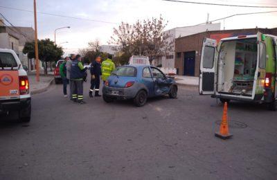 Chocó el presidente del Club Midgista y una mujer fue asistida por una ambulancia