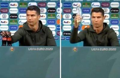 Cristiano Ronaldo recomendó tomar agua en lugar de gaseosas y la empresa perdió 4.000 millones de dólares en media hora