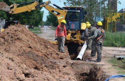 Concluyeron obras de desagües cloacales en el barrio AMEF