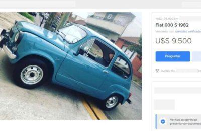 """El desopilante aviso de un Fiat 600 que se vende al precio de un 0 km: """"Sabios de sobremesa de asado, ruego abstenerse"""""""