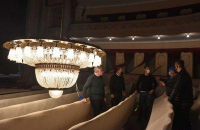 Continúan las obras para la puesta en valor del Teatro Municipal