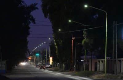 14 de Julio ya se encuentra iluminada con tecnología LED