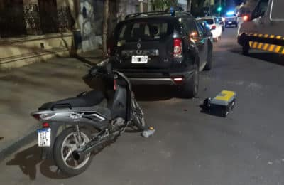 Resultó herido tras chocar contra un auto estacionado