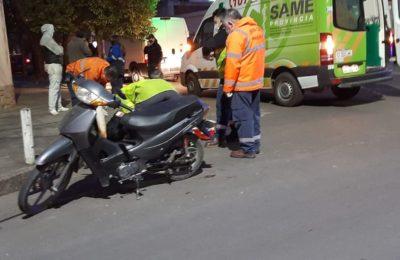 Accidente de tránsito: un motociclista fue hospitalizado