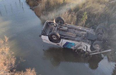 Monte Hermoso: un móvil policial cayó desde un puente