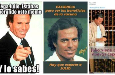 Cambia el mes y las redes cantan con los memes de Julio Iglesias