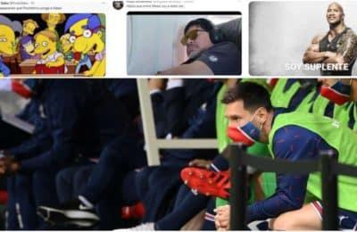 """""""Messi suplente"""", los desopilantes memes que coparon las redes tras el debut del crack argentino en el PSG"""