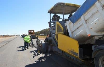 Avanza la obra en la autopista de la Ruta Nacional 33 entre Bahía y Tornquist