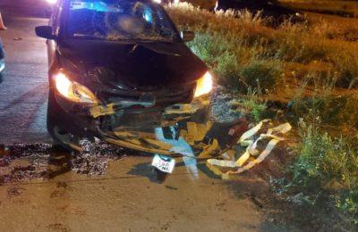 Un motociclista sufrió importantes heridas en un accidente en la rotonda de Grünbein