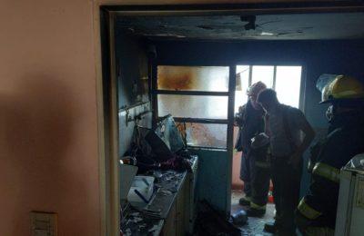 incendio en el barrio Rucci: un joven sufrió quemaduras y fue internado