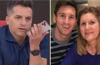 Ángel de Brito llamó a Celia Messi en vivo y le preguntó por qué no acepta estar en televisión