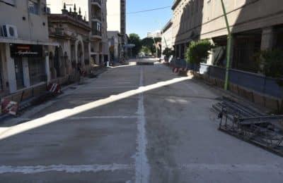 Avanza la obra de repavimentación de calle Rondeau, entre Vieytes y Estomba